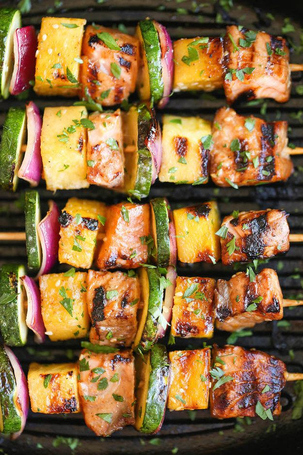 Asian Salmon Kebabs | 19 Quick And Healthy Salmon Dinners That Anybody Can Make