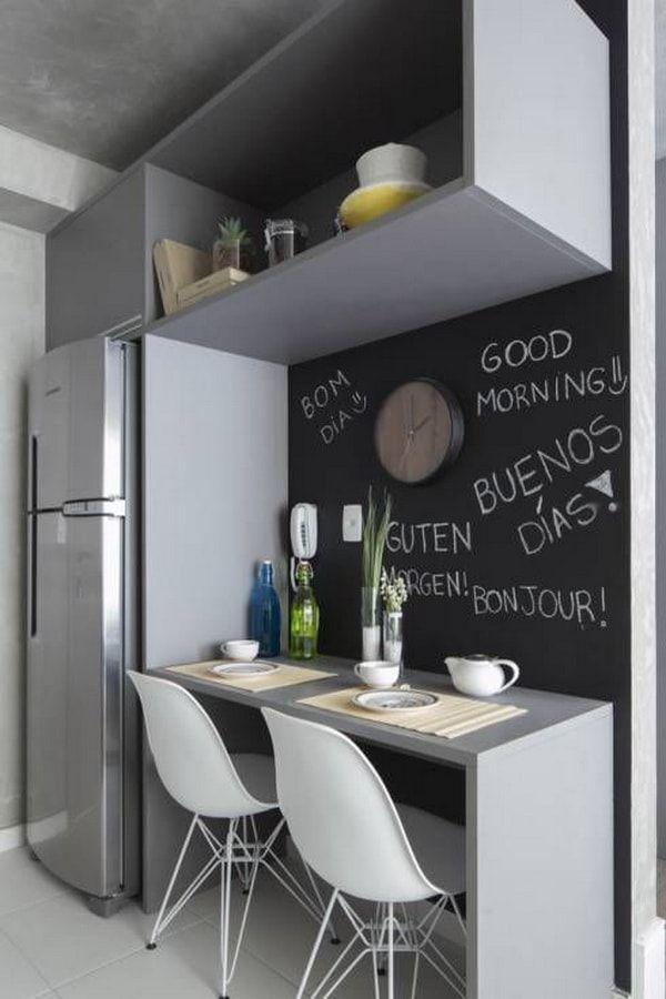 Barras de cocina. Islas de cocina. Barras desayunadoras para cocinas pequeñas. Barras de cocina rebatibles. Muebles funcionales de cocina.