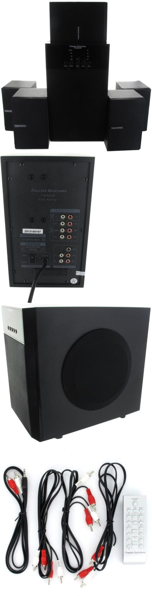 Home Theater Systems: Theater Solutions 5.1-Channel Surround Sound Home Entertainment System -> BUY IT NOW ONLY: $74.49 on eBay!
