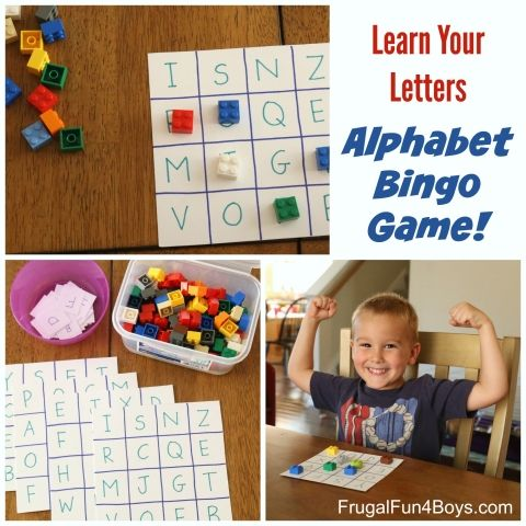 Learn Your Letters Alphabet Bingo Game