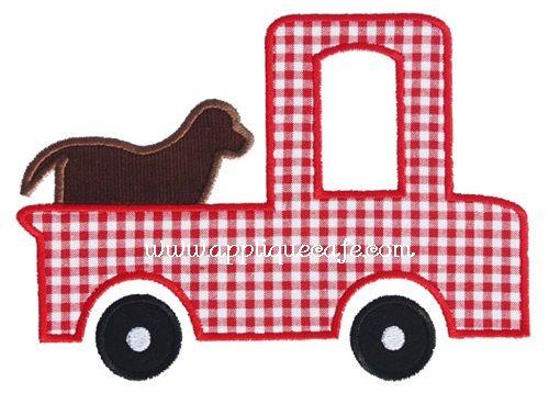 Dog Truck Applique Design