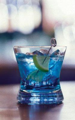 Exorcist Twist  -Ingredients:  1 part UV Blue Vodka  1 part cranberry juice  1 part tonic water    Directions:  Shake with ice and strain into a martini glass.