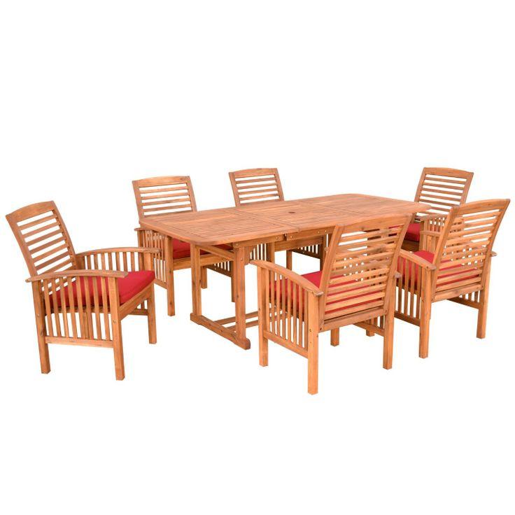 Amazonsmile We Furniture 7 Piece Acacia Wood Dining Set