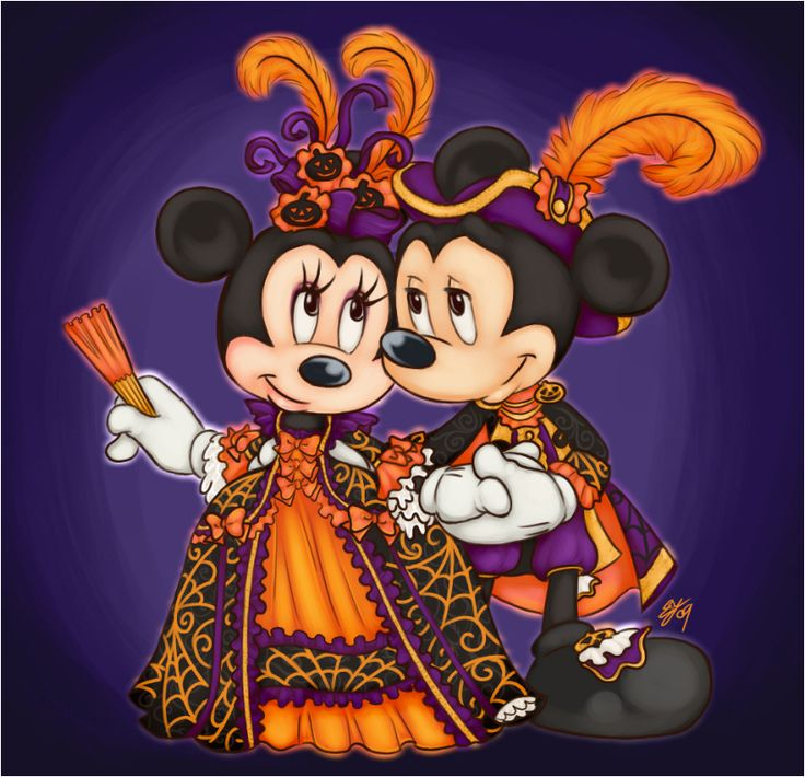 Disney Mickey mouse and Minnie.