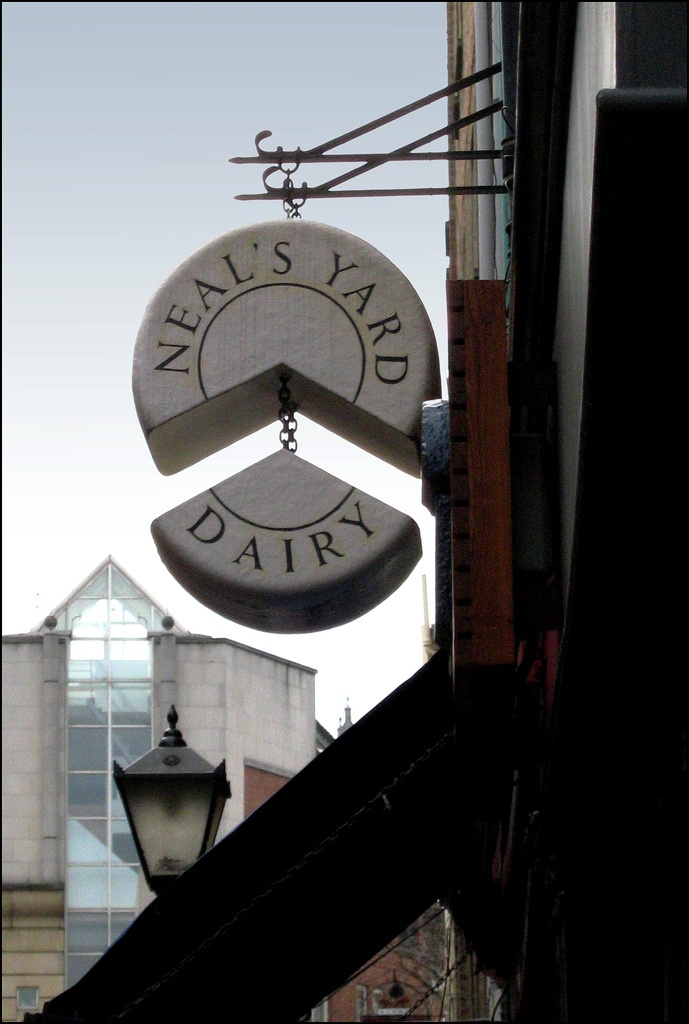 Neal's Yard cheese shoppe - Clever signage!