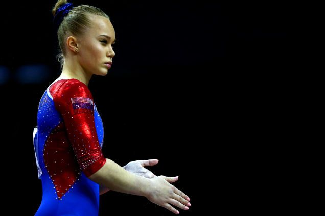 Russian Olympic Committee Reassures Fans That Gymnast Wearing Feminist T-Shirt Is Still Pretty