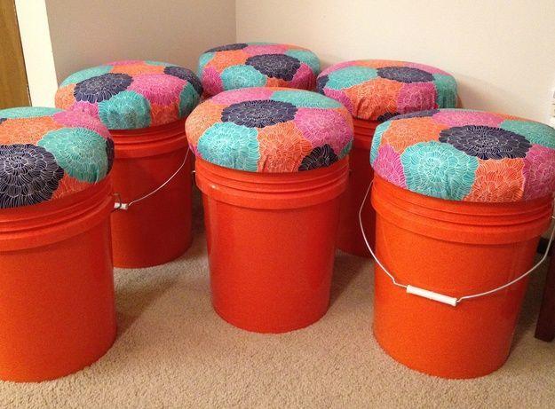 Home Depot Bucket Seats DIY | Best Home Depot Hacks and Homesteading Tips & Tricks at http://pioneersettler.com/home-depot-hacks-homesteading-tips-tricks