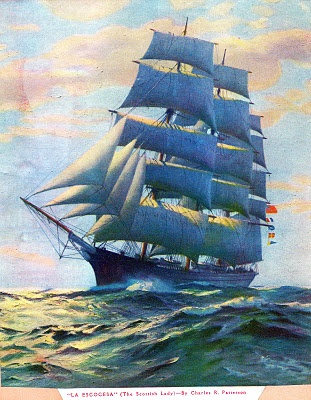 """.ship painting """"La Escocesa"""" (The Scottish Lady) by Charles R. Patterson"""