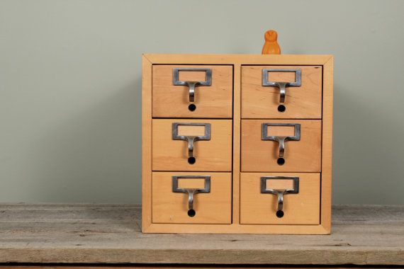 Six Drawer Library Card Catalog Cabinet Mid by NewfoundFinds