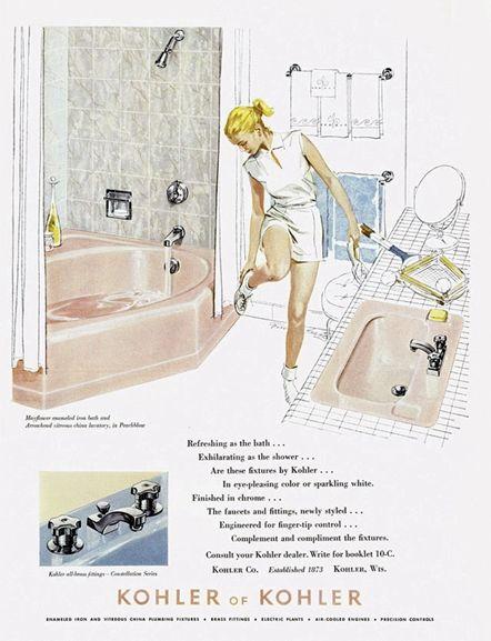 Bagnidalmondo.com - storia del bagno - bathroom vintage ads - Kohler of Kohler