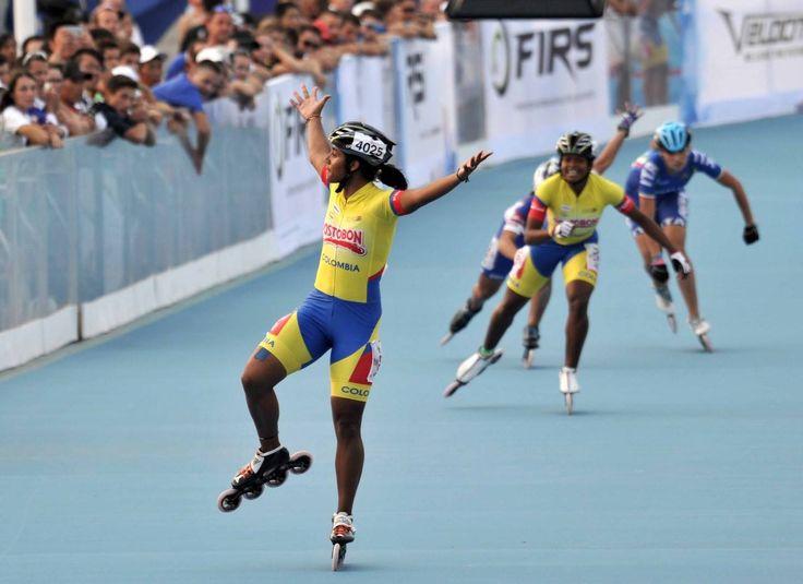 Kertinck Sarmiento, campeona mundial de patinaje en 500 metros juveniles, el 13 de septiembre en China.