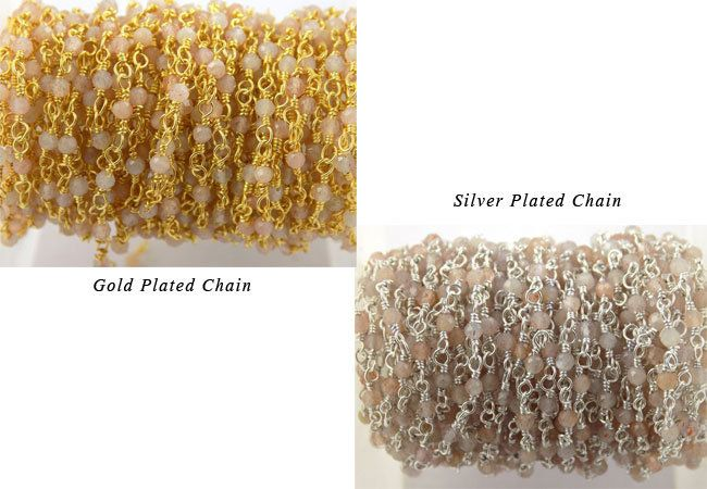 3,5,10 Feet Moonstone Hydro Rondelle Beads Rosary Yellow Jewelry Making Chains