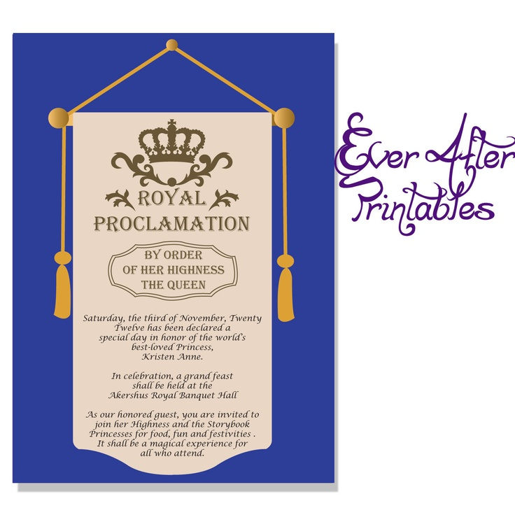 A Royal Proclamation - Party Invitation Scroll. $10.00 ...