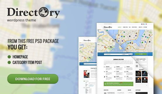 Feel free to use for your own project this #PSD files of Directory #WordPress #Theme. Package includes layered Homepage and Category Item Post.
