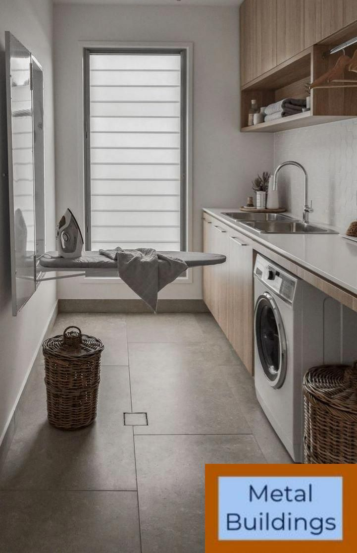 Metal Buildings And Prefab Steel Building Types Gallery And Metal Buildings Stones With Images Laundry Room Design Laundry Design Laundry Room Storage