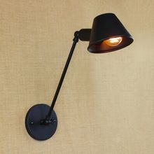 Новый дизайн классический античный черный регулируемый настенный светильник с длинными swing arm для мастерской прикроватная спальня освещение бра(China (Mainland))