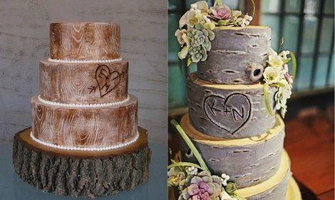 Wood You Want a Rustic Wood Wedding Cake? | Shine Food - Yahoo! Shine