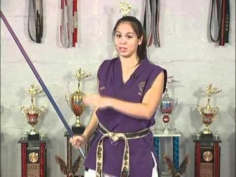 Jennifer Espina teaches Bo Staff Over Shoulder Around Neck Drill