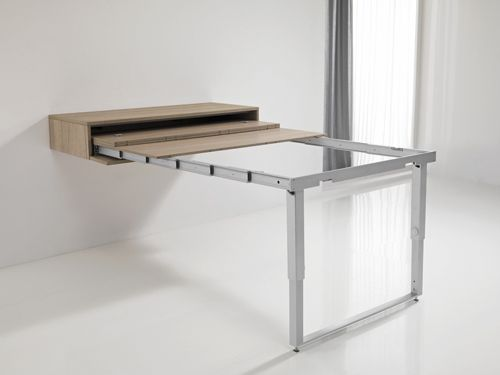 Les 25 meilleures id es de la cat gorie table escamotable for Meuble bureau escamotable