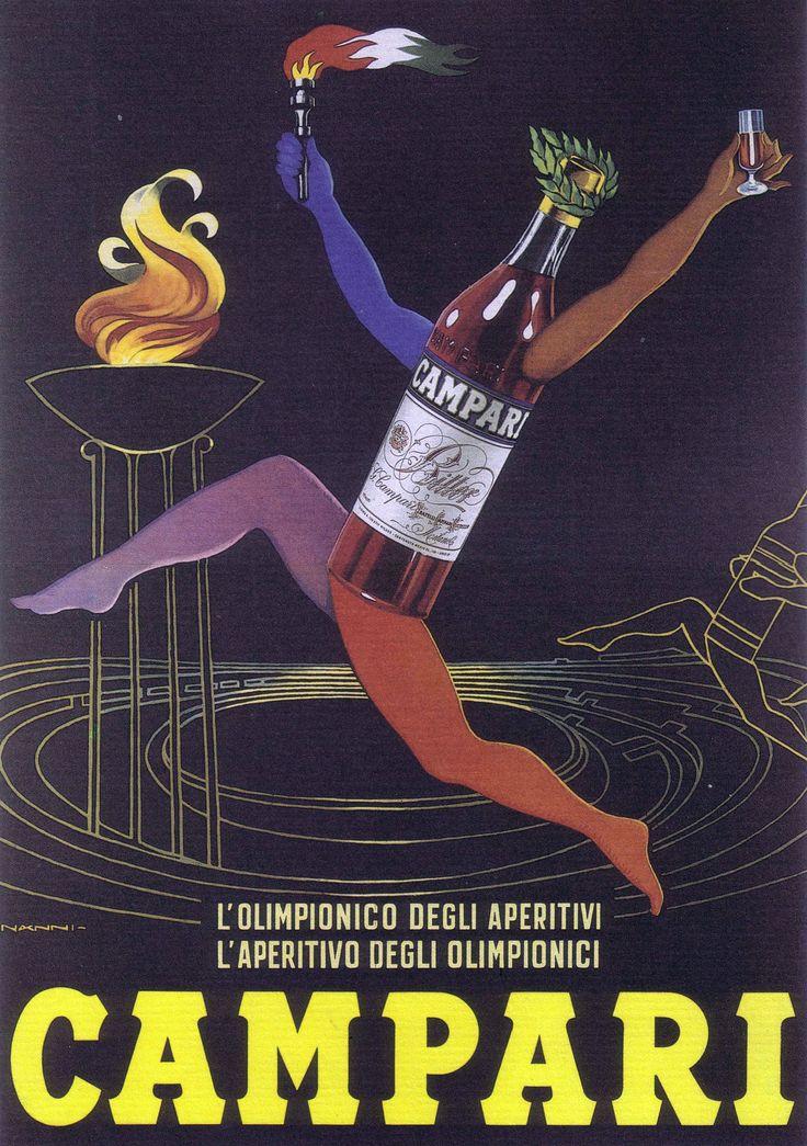 Campari, The Olympian of aperitifs, the aperitif of olympians. | 1960, Nanni