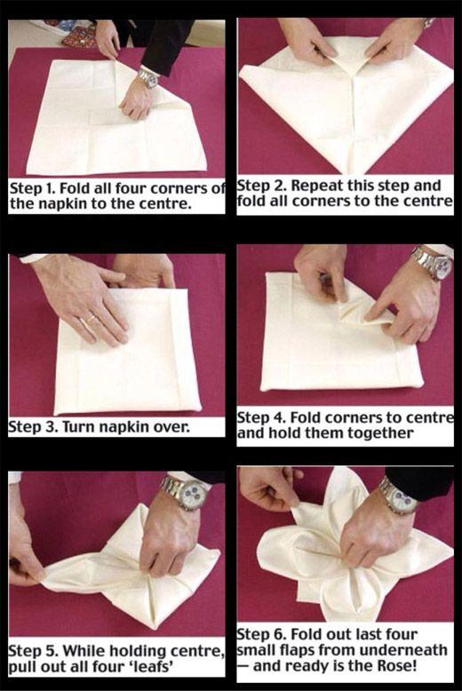 400 best towel napkin folding images on pinterest toilet for 10 easy table napkin folding