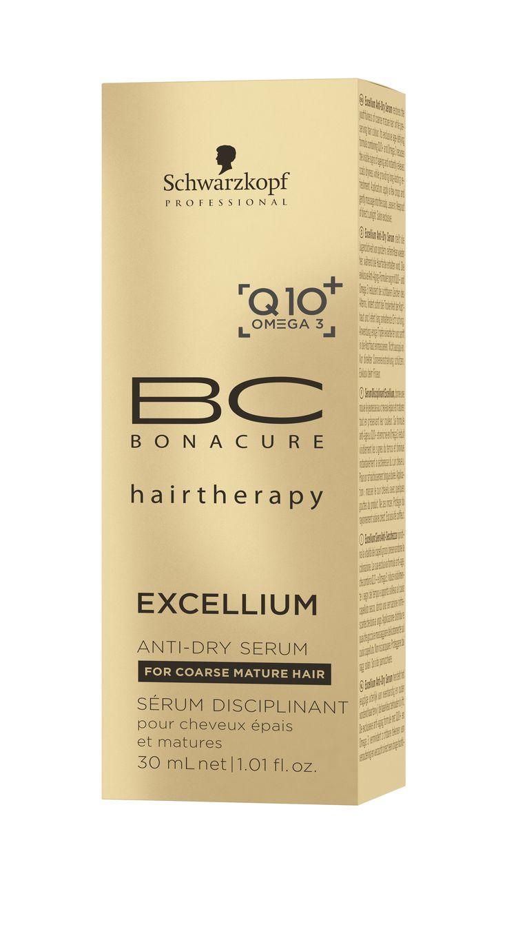 BC EXCELLIUM Q10+ OMEGA 3 Anti-Dry Szérum, 30 ml Ez az egyedülálló szérum táplálja és védi a hajat és a fejbőrt, illetve megőrzi a haj rugalmasságát.