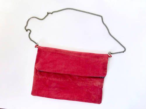 Leather cross-body bag.