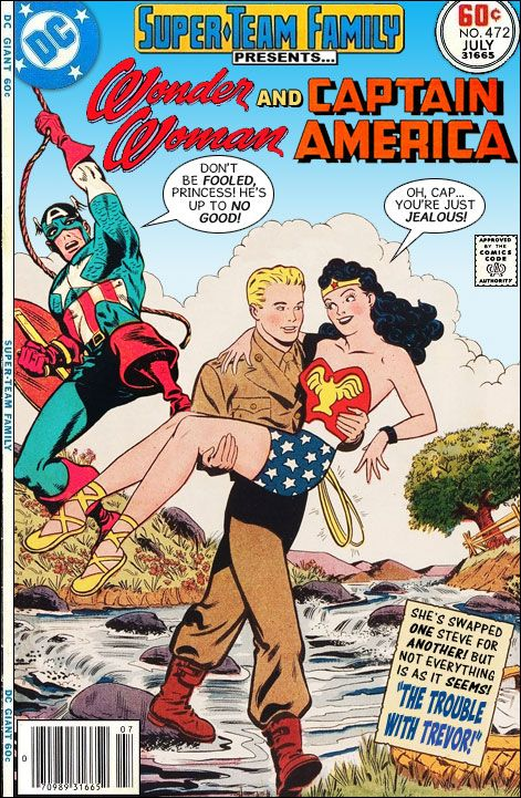 """Super-Team Family: The Lost Issues!: Wonder Woman and Captain America in: """"The Trouble With ..."""