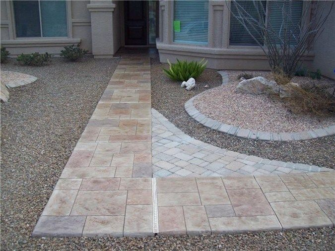 56 best images about front walkway on pinterest concrete - Stamped concrete walkway ideas ...