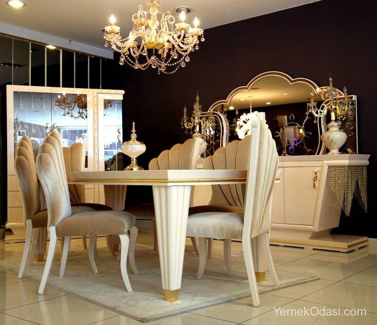 Krem Avangarde Yemek Odası Bu gün sizlere, trend mobilyaların klasik mobilyayı yansıtan yüzü olan avangarde mobilya tarzından oluşan yemek odasını tanıtacağım.Tabi ki klasik mobilyalarla birebir aynı değil.Daha az oyma ve işleme bulunması,yani şaşanın daha az olması.  Hem şıklığı hemde konforu bir arada bulabileceğiniz, ... http://www.yemekodasi.com/krem-avangarde-yemek-odasi/