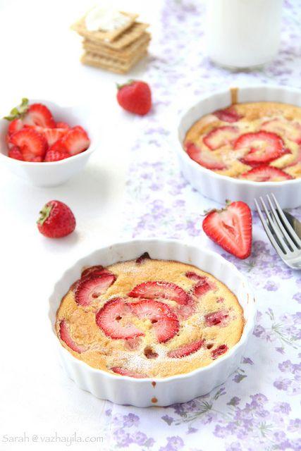 Summer Strawberry Flan by Sarah@Vazhayila.com, via Flickr