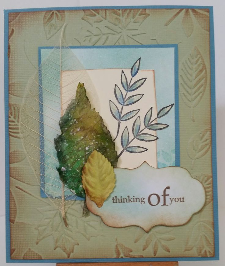 """""""Fern Leaves"""" 2467D by Stamp-it; """"Thinking…""""3424D by Penny Black; """"Tattered Leaves"""" siz656927 die; Mini Labels"""" siz657214 die; """"Endless"""" C0723294 Couture Creations embossing folder. Card by Susan of Art Attic Studio"""