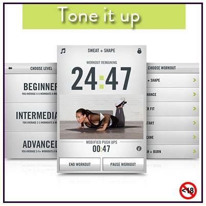 #ToneItUp with this really cool app from Nike #fitness