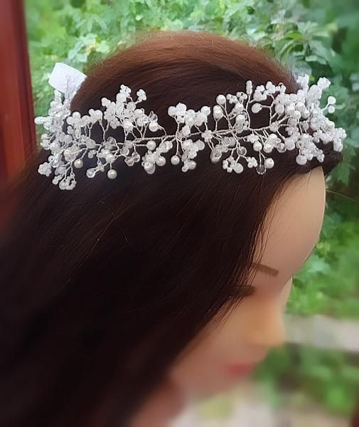 Baby's breath/Gypsophila wedding hair vine,Tiara,headband,crown,bridal – Rain Drops on Roses x