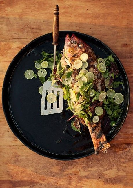 Whole Grilled Fish with Lime.: Seafood Shellfish Fish, Fish Seafood ...