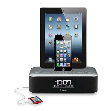 iHome® iDL100 Triple Charging FM Clock Radio | Bed Bath & Beyond