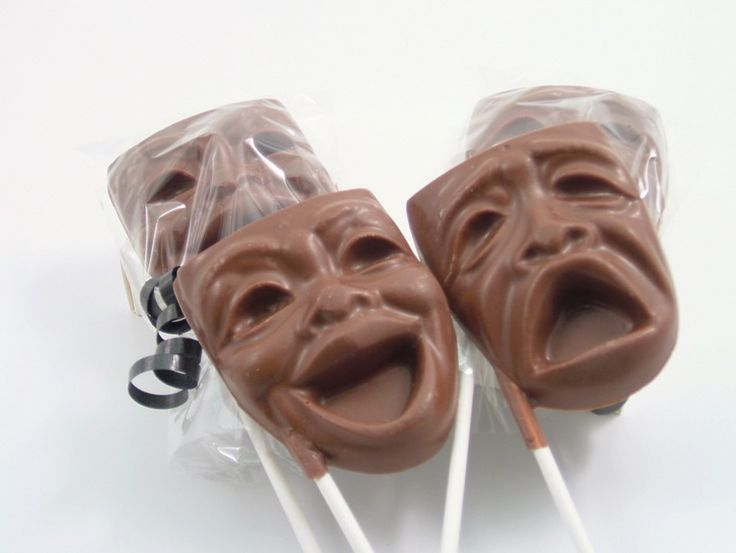 Comedy and Tragedy Mask Candy Chocolate $3.75