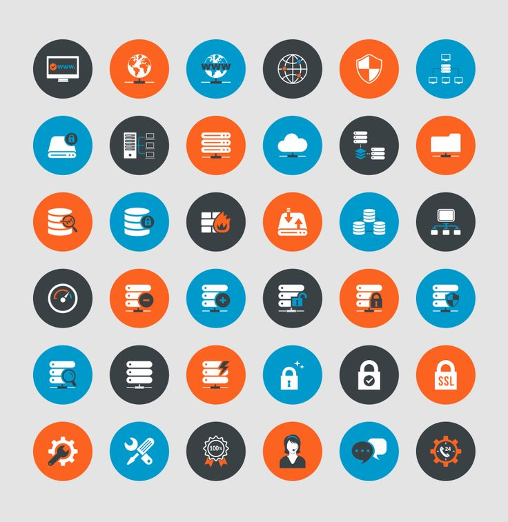 Freebie: Web Hosting & Technical Support Icons (AI, EPS, PSD, SVG, PNG)