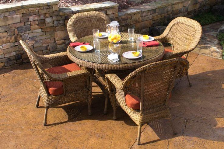 5 Piece Outdoor Dining Set | Tortuga Outdoor Wicker Furniture #TortugaOutdoor