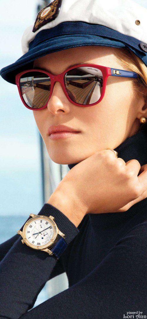 Model: Valentina Zelyaeva for Ralph Lauren Nautical Eyewear Collection Summer 2014