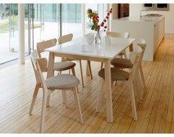 Stół rozkładany NARVIK, dąb bielony/ biały