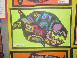 These fish were based on the Canadian artist Norval Morisseau
