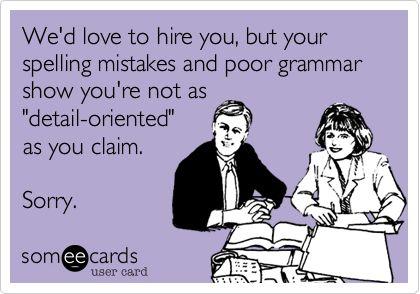 Ecards | Let down by spelling mistakes & poor grammar
