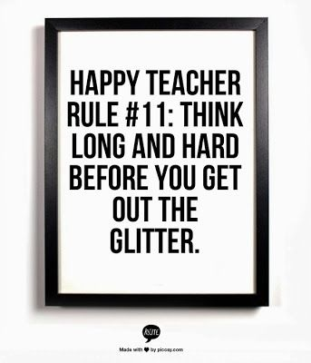 So true!!! And the custodian will thank you!