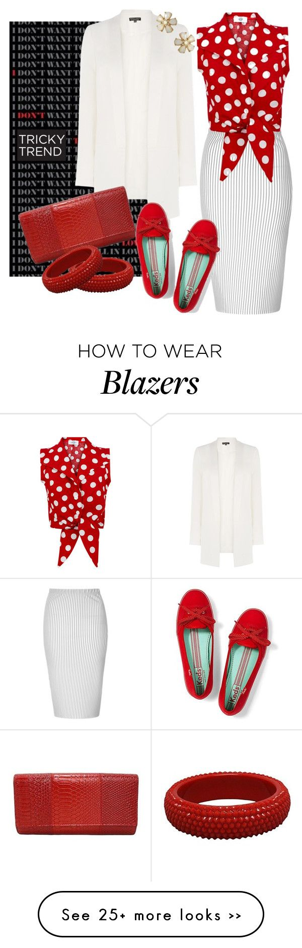 """Tricky"" by bbwraps on Polyvore featuring Glamorous, Warehouse, Keds, TrickyTrend, keds and FabulousFashionAccessories"
