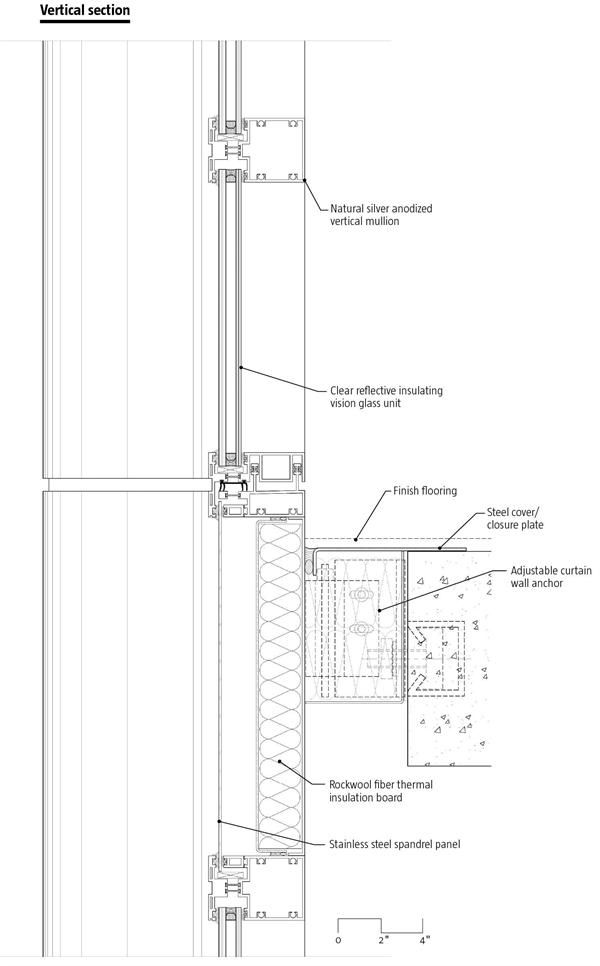 Storefront wall section google search construction details pinterest curtain wall detail for Construction drawings and details for interiors