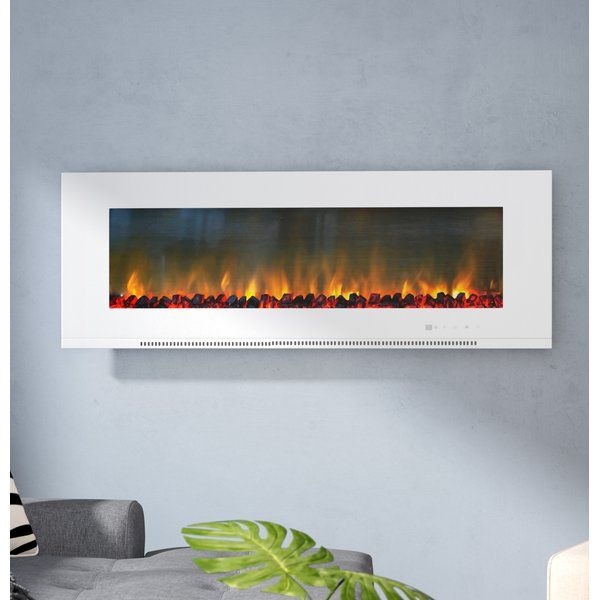 Abou Wall Mounted Electric Fireplace Wall Mount Electric