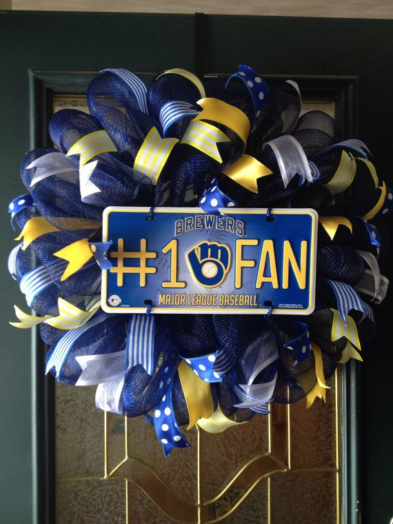 Milwaukee Brewer Wreath by ThisnThatWreaths on Etsy