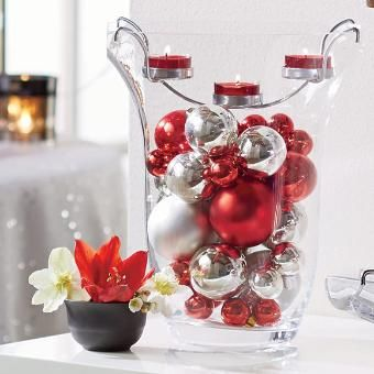 Clearly Creative™ Elegance Tealight Holder Vase