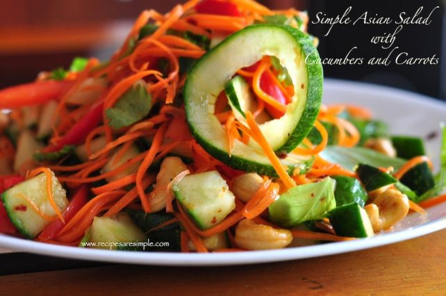 Simple Asian Cucumber and Carrot Salad